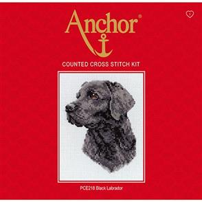 Anchor  Essential Kits: Cross Stitch  Black Labrador