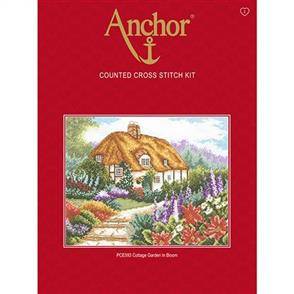 Anchor  Essential Kits: Cross Stitch Cottage Garden in Bloom