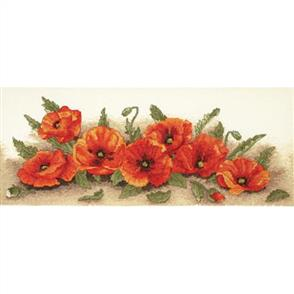 Anchor  Essential Kits: Cross Stitch Spray of Poppies