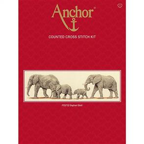 Anchor  Essential Kits: Cross Stitch  Elephants Stroll