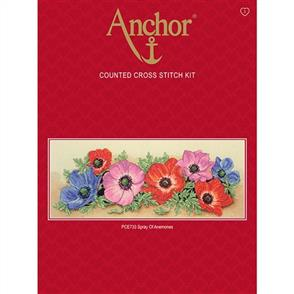 Anchor  Essential Kits: Cross Stitch Spray of Anemones