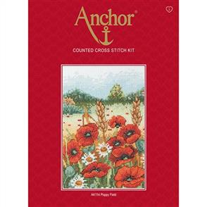 Anchor  Starter Kits: Cross Stitch Poppy Field