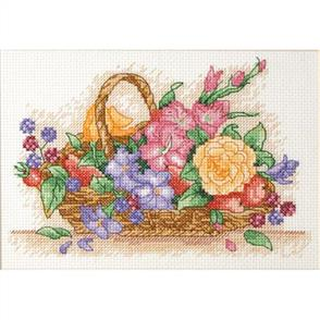 Anchor  Starter Kits: Cross Stitch Floral Basket