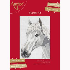 Anchor Starter Kits: Cross Stitch – White Beauty Horse