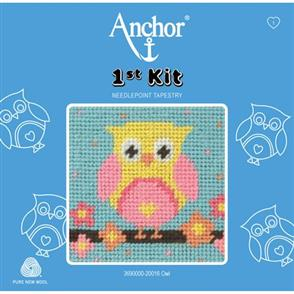 Anchor  1st Kit: Needle Point Tapestry - Owl