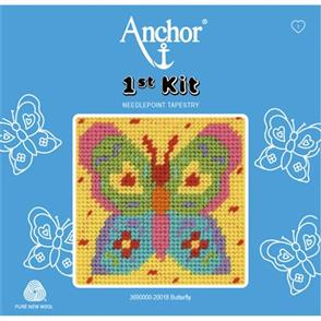 Anchor 1st Kit: Needle Point Tapestry - Butterfly