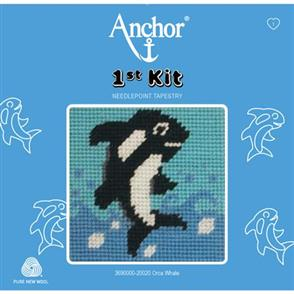 Anchor  1st Kit: Needle Point Tapestry - Orca Whale