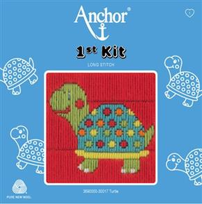 Anchor  1st Kit: Long Stitch Tapestry - Turtle