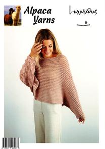 Alpaca Yarns  Knitting Pattern - 2011 Mesh Throw Over Top