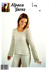 Alpaca Yarns  Fusion Knitting Pattern - 2013 Lacy Sweater