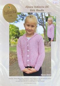 Alpaca Yarns 1520 Indiecita Alpaca DK Girls Hoodie - Knitting Pattern
