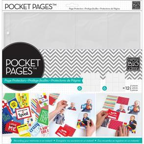 """Me & My Big Ideas Pocket Pages Protectors 12""""X12"""" 12/Pkg Assortment #1"""