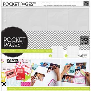 """Me & My Big Ideas Pocket Pages Protectors 12""""X12"""" 12/Pkg Assortment #2"""