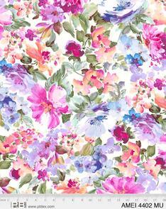 "P & B Textiles - Amelia - 4402 - Floral - Multicoloured - 108"" (274cm)"