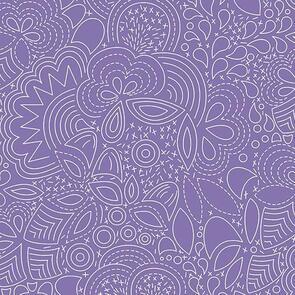 Andover Fabric  Alison Glass Hopscotch 21 Stitched - Purple