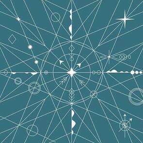 Andover Fabric  Alison Glass Hopscotch 22 Compass - 2020 - Blue