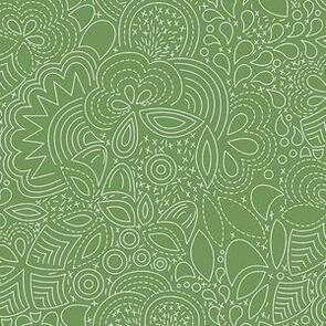 Andover Fabric  Alison Glass Hopscotch 21 Stitched -  Green