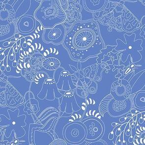 Andover Fabric  Alison Glass Hopscotch 20 Grow - Blue