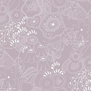 Andover Fabric  Alison Glass Hopscotch 20 Grow - Lilac