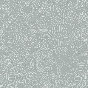 Andover Fabric  Alison Glass Hopscotch 21 Stitched - Grey