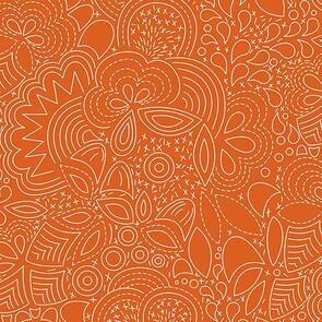 Andover Fabric  Alison Glass Hopscotch 21 Stitched - Orange