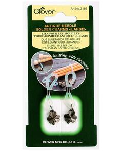 Clover  Antique Needle Holder Charms