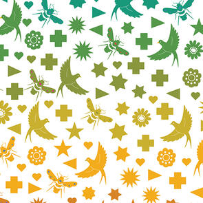 Andover Fabric Art Theory - Birds & Bees - Day
