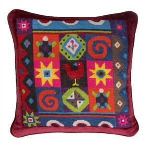 Jolly Red  Tapestry Kit - African Tiles