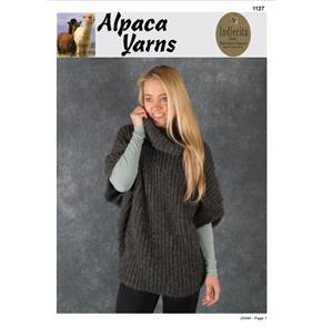 Alpaca Yarns  1127 Poncho Top - Knitting Patterns