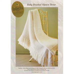 Alpaca Yarns  1130 Baby Brushed Alpaca Throw - Knitting Pattern