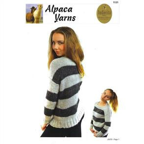 1131 Striped or Solid Cosy Sweater - Knitting Pattern