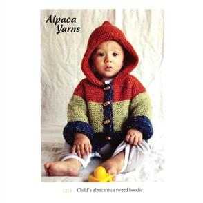 Alpaca Yarns  1214 Inca Spun Tweed Childs Hoodie - Knitting Pattern