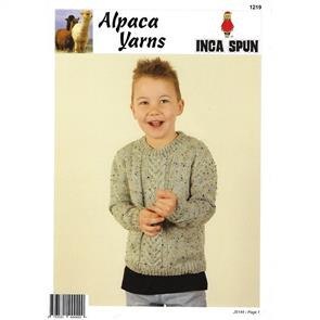 Alpaca Yarns 1219 Cable Sweater - Knitting Pattern