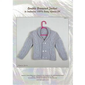 Alpaca Yarns  1511 - Double Breasted Jacket
