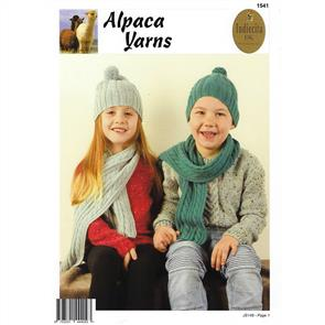 Alpaca Yarns  1541 Cable Beanie & Scarf - Knitting Pattern