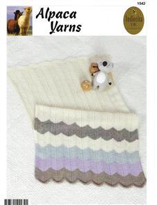 Alpaca Yarns  1542 Zig Zag Blanket - Knitting Patterns
