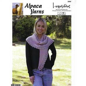 Alpaca Yarns  2000 Lace Edge Shawl - Knitting Pattern