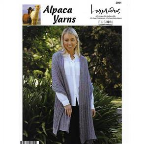Alpaca Yarns  2001 Loose Knit Wrap/Scarf - Knitting Pattern