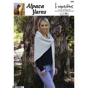 Alpaca Yarns  2002 Easy Wrap - Knitting Pattern