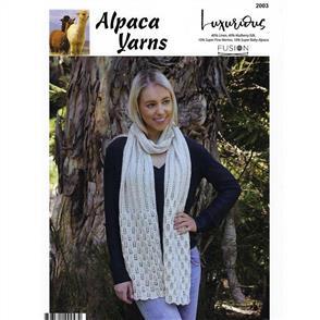 Alpaca Yarns 2003 Lace Scarf - Knitting Pattern