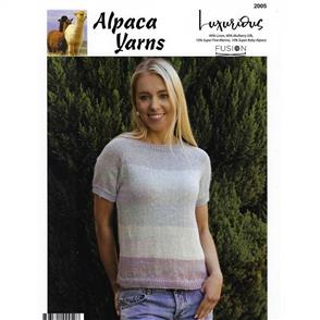 Alpaca Yarns  2005 Stripe Top - Knitting Pattern