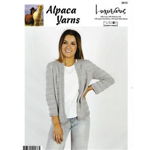 Alpaca Yarns  2012 Cardigan with Sleeve Options - Knitting Pattern