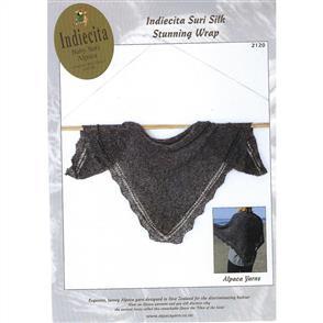 Alpaca Yarns  2120 Suri Silk Stunning Wrap - Knitting Pattern