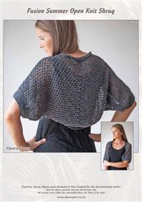 Alpaca Yarns  2402 Fusion Summer Open Knit Shrug - Knitting Pattern