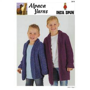 Alpaca Yarns  2619 Rib Jackets - Knitting Pattern