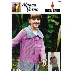 Alpaca Yarns 2620 Two Tone Jacket - Knitting Pattern