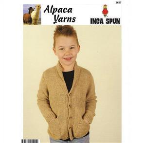 Alpaca Yarns 2627 Zig Zag Cardigan - Knitting Pattern