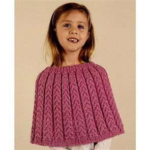 Alpaca Yarns 2628 Cable Poncho - Knitting Pattern