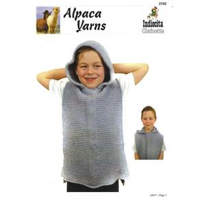 Alpaca Yarns 2702 Kids Hoodie Top - Knitting Pattern