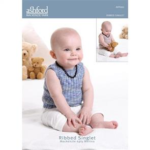 Ashford  Knitting Pattern - Ribbed Singlet